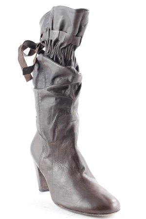 Mini Milano Absatz Stiefel dunkelbraun Casual-Look