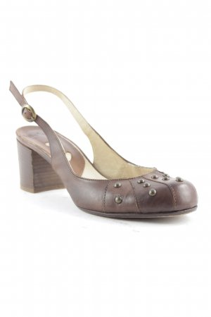 Mini Milano Riemchen-Sandaletten braun-goldfarben Casual-Look