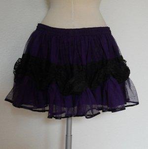 Mini Petticoat Rock lila schwarz freesize 36 38 40 42 gothic metal lolita WGT