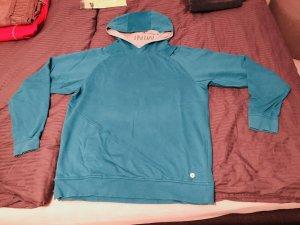 Mini Capuchon sweater turkoois-lichtblauw