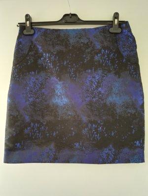 Mini Rock / blau schwarz glänzend /  Winterrock / Weihnachten / Größe 38 - 40