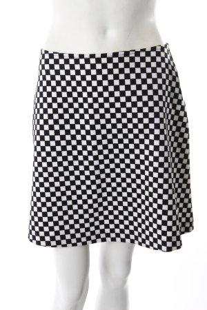 Mini-Rock Checkerboard-Muster schwarz-weiß