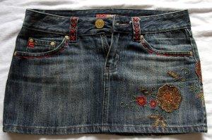 Mini Rock Jeans Castro mit Blümen