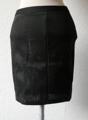 Mini Rock Minirock Stretch schwarz glänzend Gr. 34 XS Party