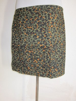 Mini Rock Oliv Animalprint schwarz orange Gr 44