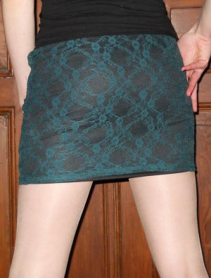 Lace Skirt petrol-black