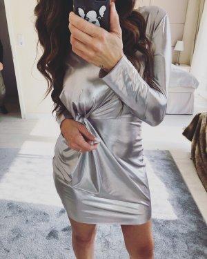 Mini Silber metallic kleid zara