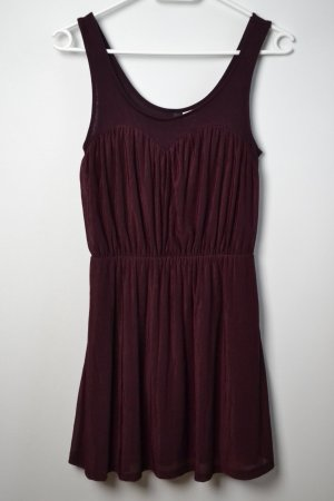 Mini- Skaterkleid in Oxblood