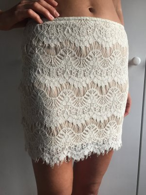 Forever 21 Lace Skirt white-nude