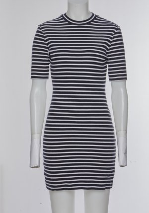 Alexander Wang Mini Dress dark blue-natural white cotton