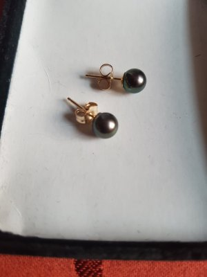 Pearl Earring gold-colored-taupe