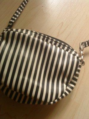 H&M Mini Bag black-white imitation leather