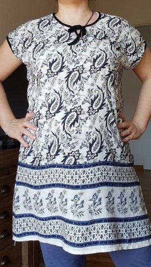 minikleid 100 baumwolle blau