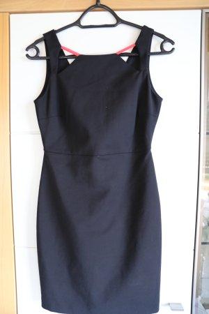 Zara Robe courte noir-rouge coton