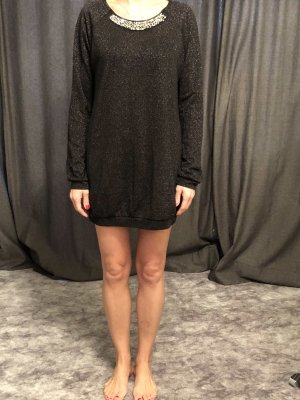 Intimissimi Sweater Dress black-silver-colored lurex