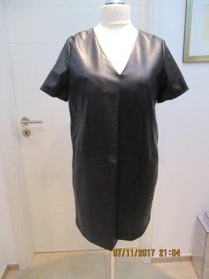 Minikleid aus Kunstleder von Zara in XL in schwarz Kleid
