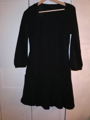 Benetton Vestido de lana negro