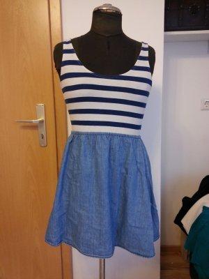 Minikleid, blau-gestreift, Größe 38