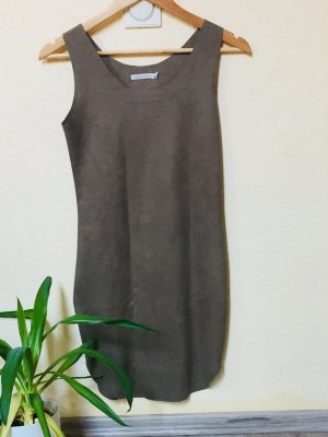 Leather Dress grey brown