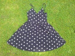 Minikleid Cynthia Rowley schwarz weiße Punkte Gr. 36 S