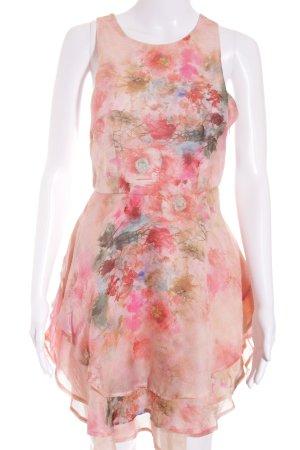 Minikleid florales Muster Romantik-Look