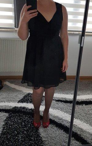 Minikleid Gr L (38/40) Spitzenkleid Kleid Vero Moda schwarz Sommerkleid