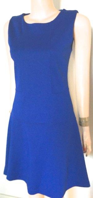 Mini vestido azul tejido mezclado