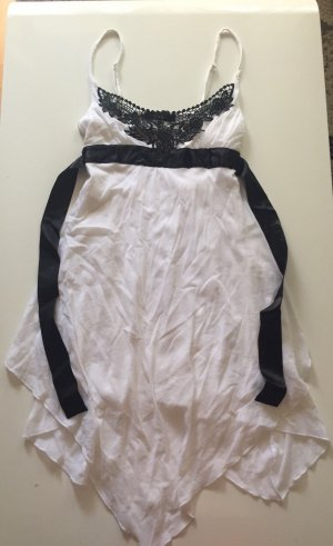 Melrose High Low Dress white-black