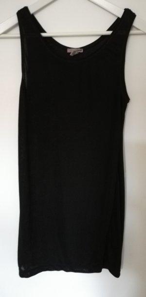 Minikleid H&M transparent Trägerkleid schwarz 34