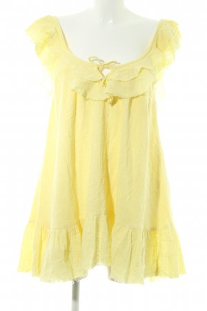 Mini Dress pale yellow casual look
