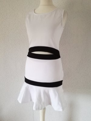 Vestido cut out blanco-negro