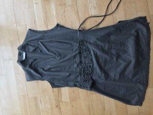 Minikleid in Khaki mit Paillettengürtel