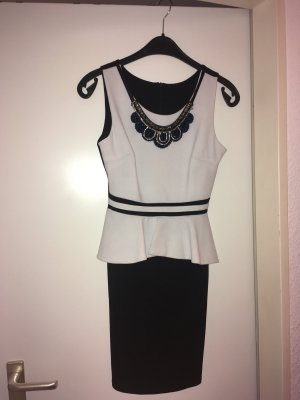 Minikleid in schwarz weiß