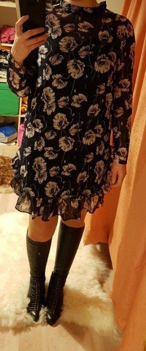 Minikleid Kleid Pieces (42/44)  Party Spagettikleid Mini Neu Ruschen leicht Kleid Langarm