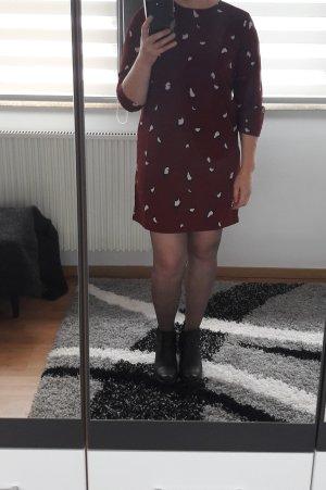 Minikleid Kleid Pieces Gr. L (40) Party Büro Printkleid Mini Neu casual rot / rosa / blau