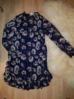 Minikleid Kleid Pieces  Gr. S ( 36/38)  Party Mini Neu Ruschen leicht Kleid Langarm Oversized