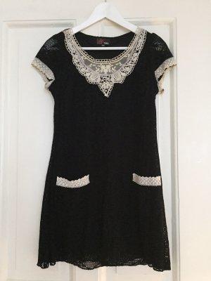 Minikleid Kleid schwarze Spitze Spitzenkleid YUMI - S