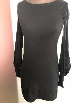 Minikleid Kleid Tunika mit Chiffon Ärmeln Gr 34 36 XS S