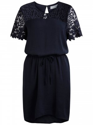 Minikleid Kleid Vila by Vero Moda Gr L 40 sommerkleid spitze Party Büro Mini NEU