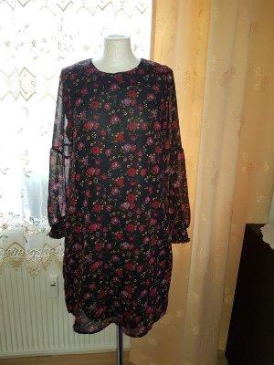 Minikleid Langarm Vero Moda Gr. M (38) Kleid Blumenprint Neu casual Büro Schule