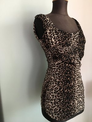 Minikleid Leoparden Muster Gr32 34 XS von Amisu