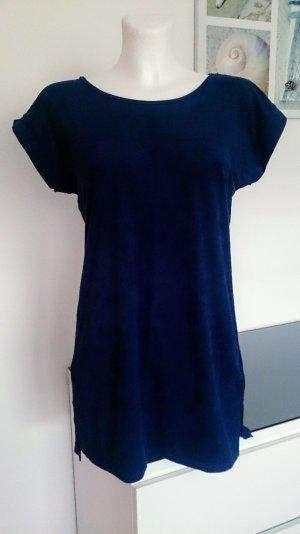 Minikleid Longshirt aus Wildlederimitat