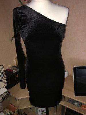Mango One Shoulder Dress black