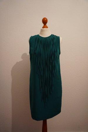 Zara Robe trapèze turquoise polyester
