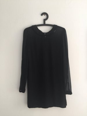 Minikleid mit Kragen und transparentem Dekolté