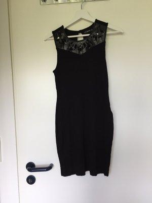 Minikleid mit Leder