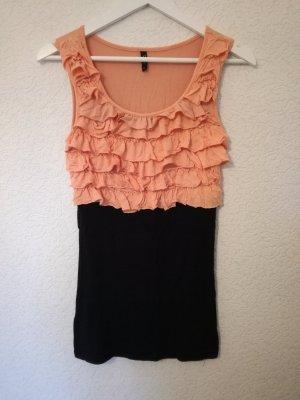 Minikleid mit Rüschen 2in1 Look Kleid Longtop Long Top
