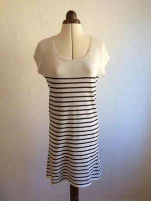 Minikleid mit Streifen im Marinière-Look / French chic aus Baumwolle