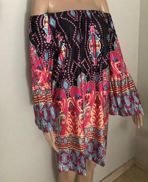 Robe épaules nues multicolore