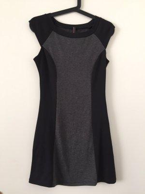 Mini Dress black-grey polyester